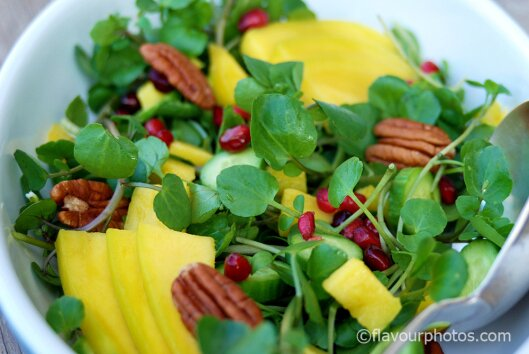 Watercress & Mango Salad flavourphotos