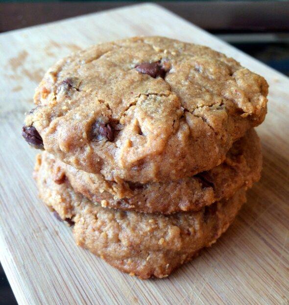 PB Choco Chip Cookies