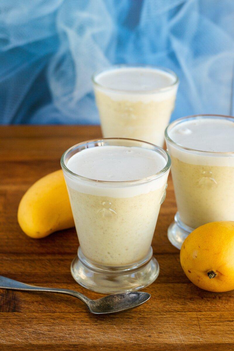 Vegan Mango Frozen Latte by An Unrefined Vegan