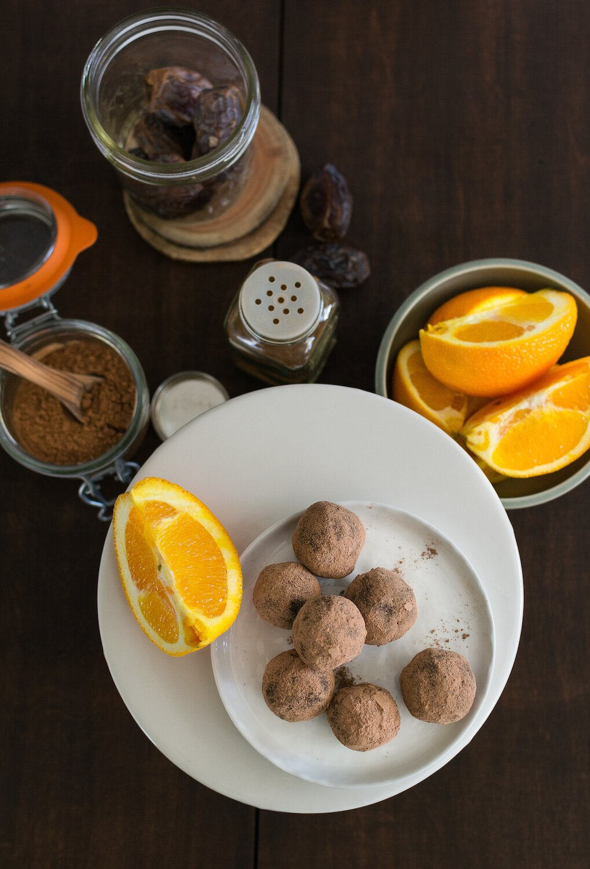 Vegan Chocolate Orange Truffles by An Unrefined Vegan