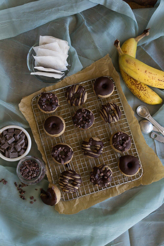 Vanilla Banana Mini Doughnuts by An Unrefined Vegan